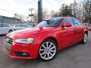 2014 Audi A4 2.0T QUATTRO 6 SPEED / 70KMS / SUNROOF !!!