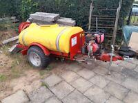 Honda diesel engine driven bowser water pump on 2wheel