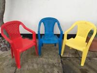 Children's garden or nursery chairs