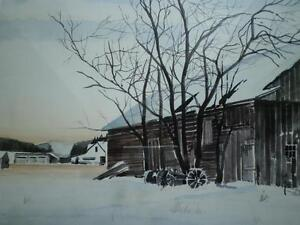 "Robin Zefers Clark-""The Heifer Barn""-Limited Edition Print Kitchener / Waterloo Kitchener Area image 9"