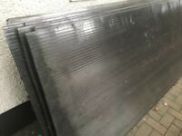 Polycarbonate roofing Sheets - size 3.1 meters x 1 x 1.05 m x 1 inch — good condition - £250 new