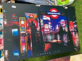 Large wooden picture - London