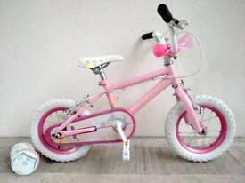 "(2649) 12"" PRINCESS Girls Kids Bike Bicycle+STABILISERS Age: 3-4, 90-105cm PINK"