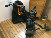Powakaddy Freeway 2 Digital Golf Trolley with genuine Powerkaddy Battery, Charger and Car Cover Bag