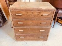 Oak Vaneer Chest of Drawers - can deliver depending on locality