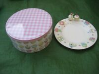 Marks and Spencer Cupcake Serving Plate and Cupcake Tin for £ 3.00
