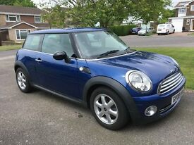 Mini One 1.4 Blue metalic paint, very low mileage, low insurance group