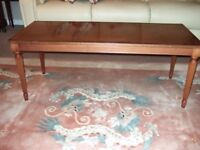 Classic rectangular wooden coffee table, VGC
