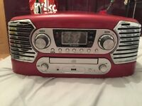 Red Retro Turntable and CD player - excellent condition!!