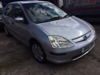 Honda Civic 1.6 i VTEC SE Hatchback 5dr Petrol - CHEAP - Good running engine, Spares/Repairs