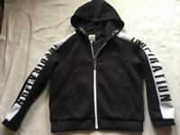 Metres/bowne ladies hoodies full zipper black size 14 new £8