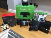 Xbox One 500gb in box.