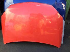 Vauxhall combi van bonnet red