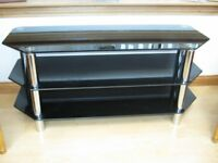 3 tier tv glass table l=45 inches x w=18 inches x h20 inches offers must pick up.