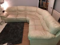 Large dazzle corner sofa and pouffe from dfs
