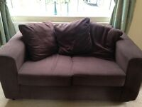 2 brown 2 seater Argos sofas for sale
