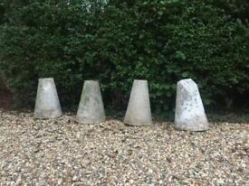 FREE 4 Staddle stones bases - bollards