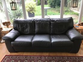 Leather 3 seater sofa perfect condition