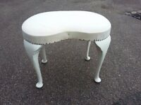 kidney shaped dressing table stool