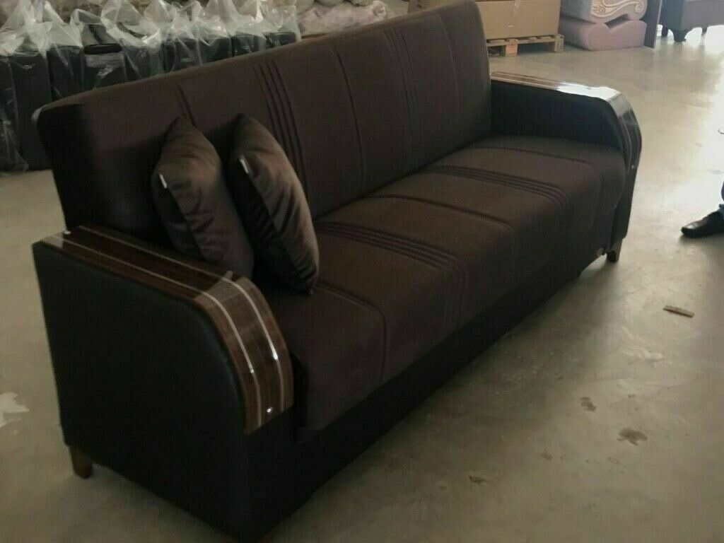 Turkish All In One 321 Sofa Bed With Storage Brand New Same Day