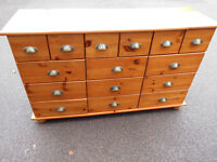 Solid pine multi drawer chest. Can deliver locally
