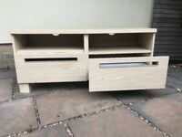 TV bench (Ikea) with 2 drawers and 2 - 4 shelves