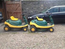 2 X ride on mowers (spares or repair)