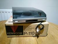 Kenwood P-110 Record/Vinyl Turntable.