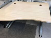 *SOLID LARGE EXPENSIVE OFFICE TABLE+PASSAGE FOR WIRING+METAL LEGS+GOOD CONDITION+DELIVERY AVAILABLE