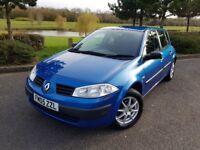Renault Megane 1.4 16v Petrol Manual Authentique 5dr Blue Key/Card Start Mot Part/History Warranty