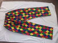 Harlequin Style Chefs Trousers. Brand New & Never Been Worn. ** Ideal For Fancy Dress **