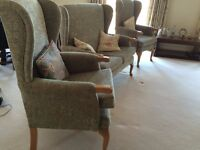 "2 HSL Helmsley ""Grande"" arm chairs and 2 seater sofa: superb condition: Bargain!"