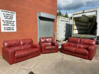 Leather 3 piece sofa set 2/2/1 sofas delivery 🚚 sofa suite couch furniture