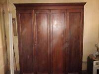 very large period mahogany wardrobe