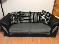 Farrow Fabric 3 + 2 Sofa in Black/Grey