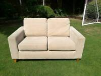 Next home 2 seater cream couch/sofa