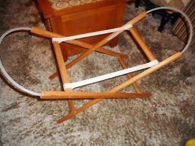 baby folding moses basket or carry cot stand