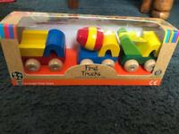 Kids wooden hand crafted first trucks set of three