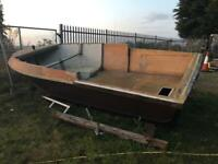 17ft wide beam fishing boat unfinished project