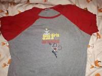 Grey & red raglan sleeve nightshirt