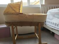 Unused Clare de lune Moses basket and stand - £20
