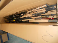 Fishing rod sections , rings , reel seats , parts