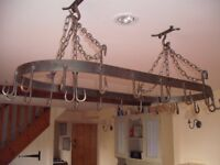 Oval Metal Ceiling Mounted Hanging Rack