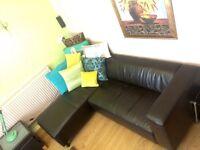 ## leather corner settee NEW ##