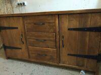 Handmade Chunky Rustic 5ft Sideboard Light Oak FInish