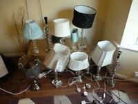 Table lamps from dunelm from £10
