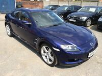 MAZDA RX8, FSH, Rare Stormy-Blue, 228Bhp edition, good condition