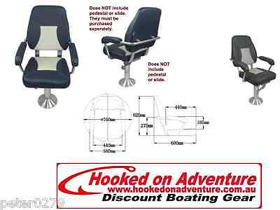 Mini-Mojo Deluxe Helm Seats Charcoal with mid grey contrast RWB5026