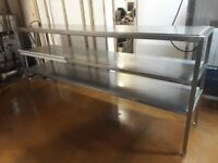 2.25m Gantry Top With 2 Tiers Heated Chefs Pass Through Commercial Catering thru