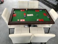6seater poker/game table with chairs